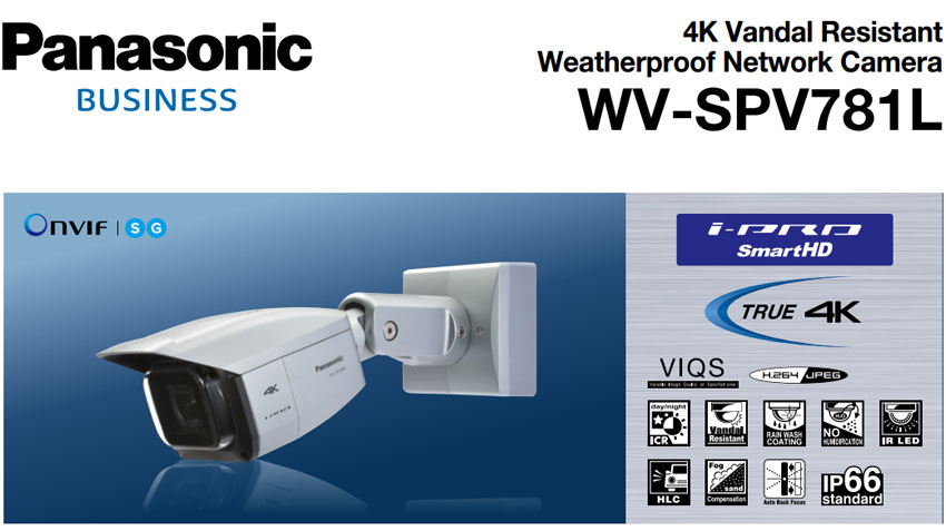 Panasonic WV-SPV781L 4K Camera