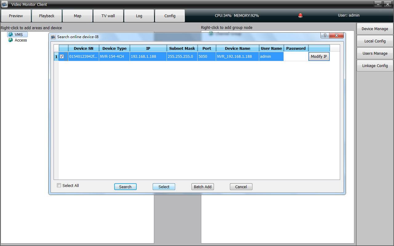 HD NVR Video Monitor Client PC Software Download