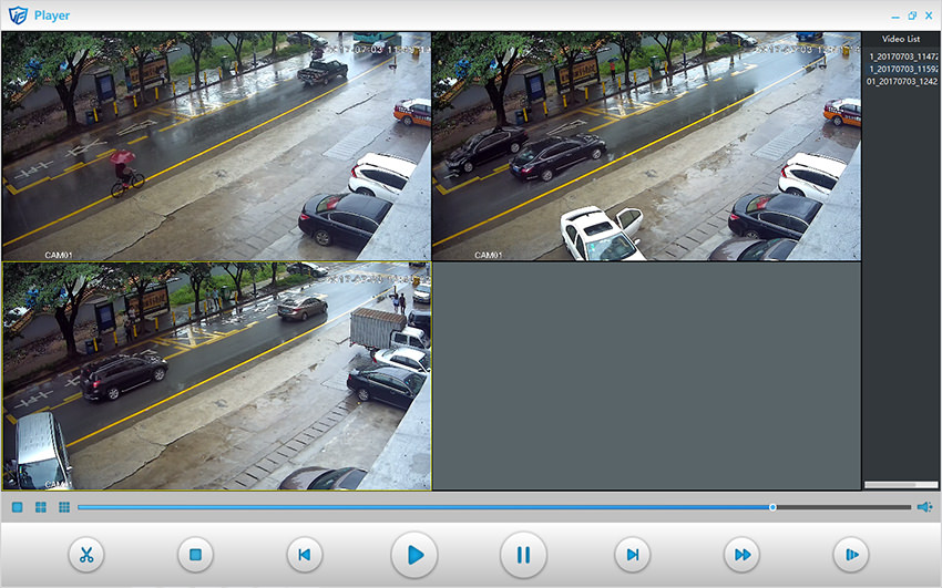 H 264 H 265 Video Files Player Playing Cctv Video