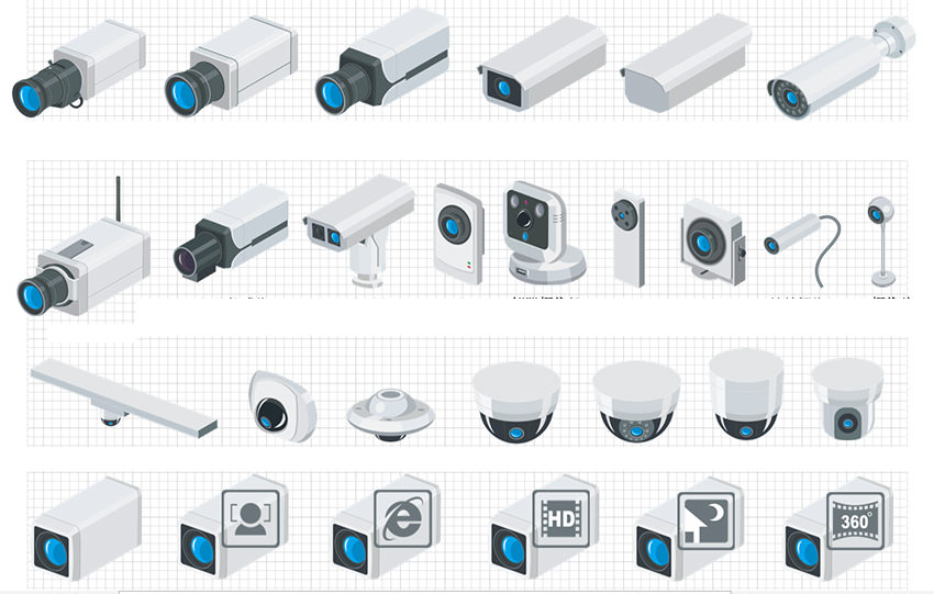 ip network video surveillance visio icon library free downloadip network security camera icon