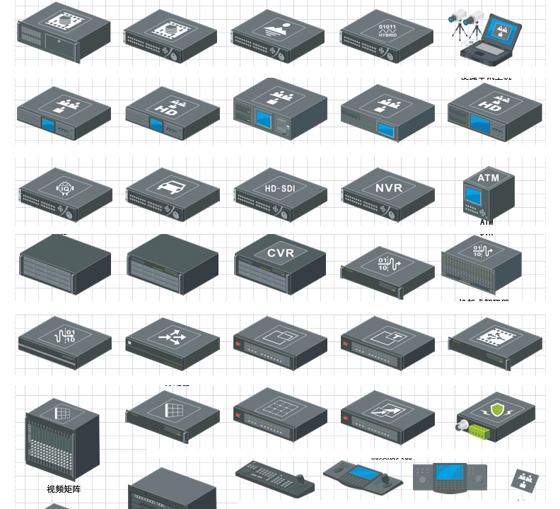Ip Network Video Surveillance Visio Icon Library Free Download