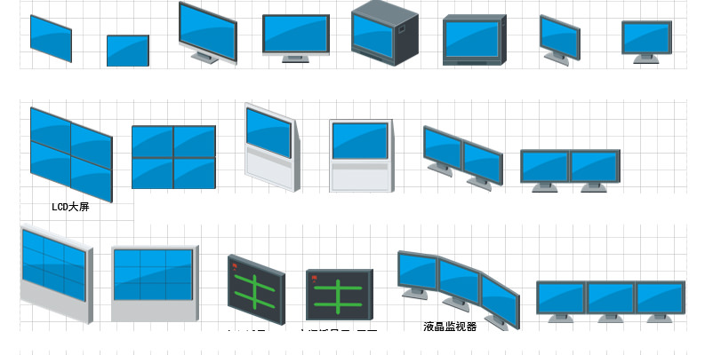 IP/Network Video Surveillance Visio Icon Library Free Download