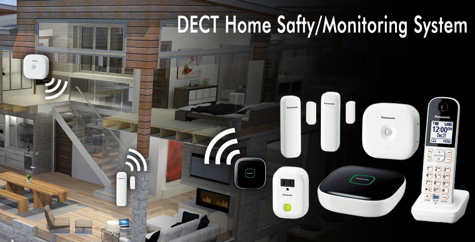 Dect Home Office Wireless Monitoring System From Panasonic