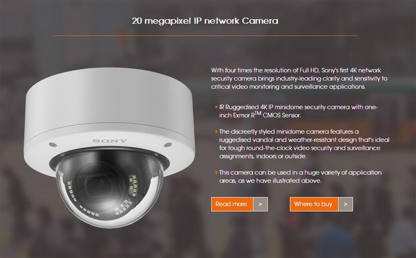 20 Megapixel IP Camera Sony SNC VM772R
