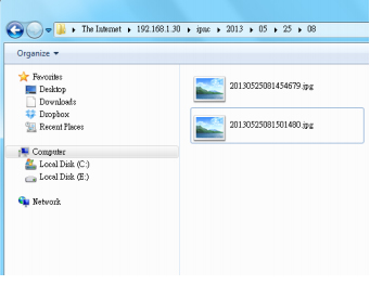 How to access the files in SD card on IP cameras directly?