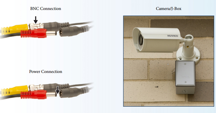 install cctv security cameras quick start guide bnc power connection