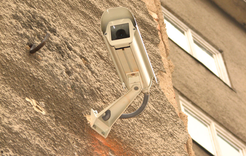 Installed Outdoor Security Camera