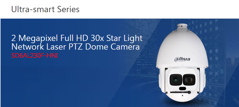 Dahua Star-light Network PTZ Camera SD6AL230F-HNI