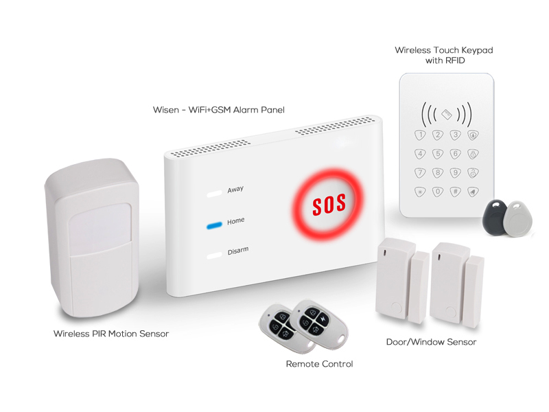 No mouth fee diy wifi gsm home automation alarm system yoosee wisen is a do it yourself alarm system user is easy to setup you can mount this system on your front door or bedroom every configuration can be done solutioingenieria Choice Image