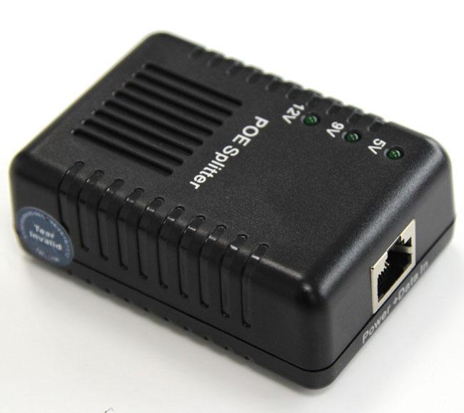 Multi-functional PoE Splitter/Adapter 5V/9V/12V